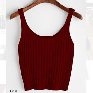 Tops - SOLD❌Ribbed burgundy tank